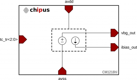 Bandgap Voltage Reference - Low Integrated Noise (57 2µVrms) TSMC 40nm