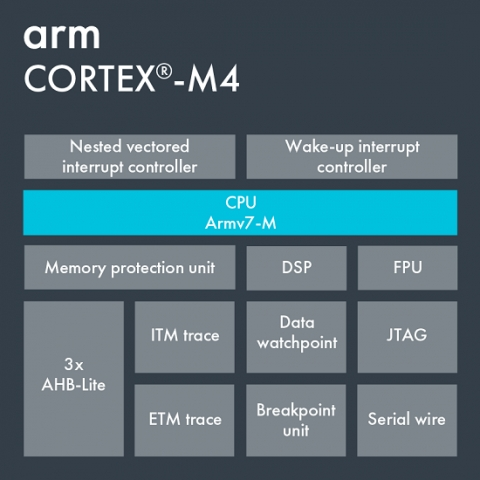 Arm Cortex-M4 Block Diagam
